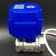 Válvula eléctrica de bola en acero inoxidable para agua y aire 3/4'
