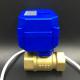 Válvula eléctrica de bola de bronce para agua y aire 3/4'