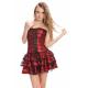 Sexy vestido gotico rojo y negro