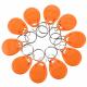 Llavero RFID Tag 125Khz color naranja